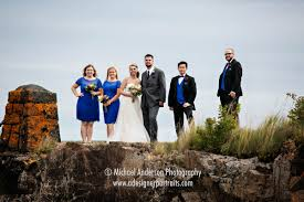 Mn Wedding Photographers Destination Wedding Photography Of A Wedding Party On A Cliff