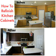 How To Paint New Kitchen Cabinets How To Refinish Your Kitchen Cabinets Latina Mama Rama