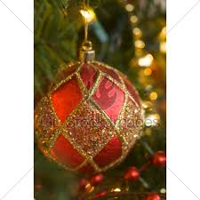 ornate ornament on the tree gl stock images