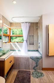 Glass Tile Bathroom Backsplash by Bubble Glass Tile Bathroom Modern With Back Lighting Bathroom