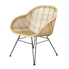 maison du monde chaise de bureau fauteuil en rotin et métal noir maisons du monde