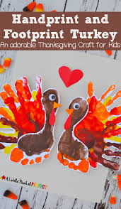 Kids Handprint Crafts Handprint And Footprint Turkey An Adorable Thanksgiving Craft For