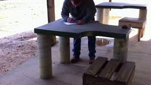 murphy table and benches benches at sam murphy wma rifle range guin al youtube