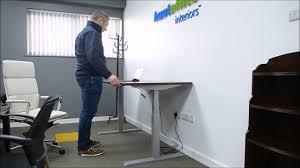 Sit Stand Desks by Sit Stand Desks At Huntoffice Youtube