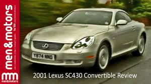 lexus convertible 2008 2001 lexus sc430 convertible review youtube
