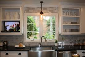 Large Ceramic Kitchen Sinks by Pendant Light Above Kitchen Sink Also Ceramic Indoor Planters