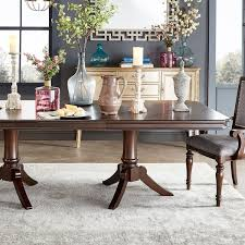 Extendable Dining Tables by Lasalle Espresso Pedestal Extending Dining Table By Inspire Q
