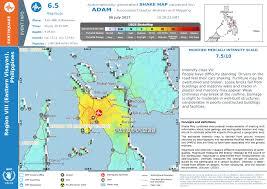 Earthquake World Map by Earthquake In Philippines Shake Map 2017 07 06 U2014 Wfp Geonode