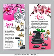 beauty salon brochure template stock images royalty free images