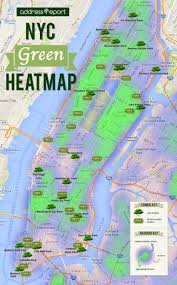 Map Of Manhattan New York City by The Nyc Green Heatmap Visualizing New York U0027s Farmers Markets