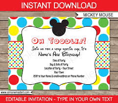 birthday invite template mickey mouse birthday party invitations lijicinu b30ea8f9eba6
