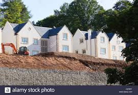 hillside gardens stock photos hillside gardens stock images alamy executive homes built on a steep hillside with gabion walls holding back new subsoil to