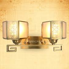 Mission Style Bathroom Vanity Lighting Funky Bathroom Vanity Lighting 2 Light Bronze Style Mission