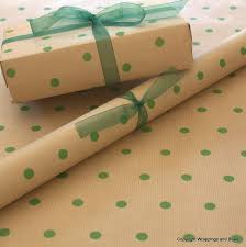 kraft christmas wrapping paper christmas kraft patterned brown gift wrapping paper green spots