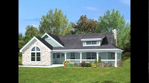 one level house plans with porch one story house plan with front porch unique e level house plans