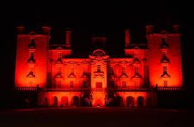 Red Lighting Landmarks Lit Up Red For Poppyscotland Appeal Bbc News