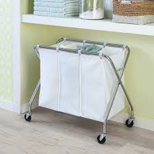 Laundry Sorter With Folding Table Laundry Sorter Heavy Duty 3 Bin Laundry Sorter With Wheels The