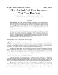 direct method cash flow statements their time has come pdf