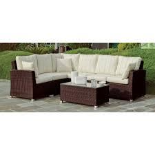 canapé d angle 8 places salon de jardin avec table basse 60x60 cm 1 canapé d angle 8