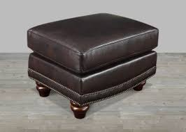 Brown Leather Ottoman Ottomans Living Room