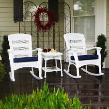 white patio furniture sets shop tortuga outdoor portside 3 piece wicker patio conversation
