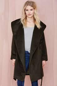 alexia shaggy coat khaki shop jackets coats at nasty gal