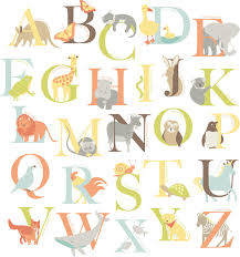 zoo wall art sticker kit alphabet zoo wall art sticker kit