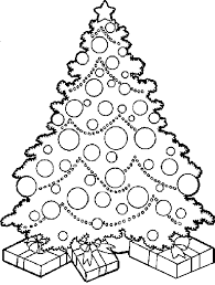 coloring page of christmas tree with presents christmas tree coloring pages christmas tree with gifts coloring