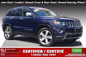 cherokee jeep 2016 used 2016 jeep grand cherokee limited at edmundston honda 40564