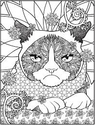 Freebie Grumpy Cat Coloring Page Sting Cat Coloring Pages