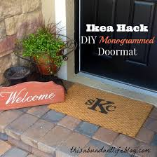 ikea hack diy monogrammed doormat this abundant life