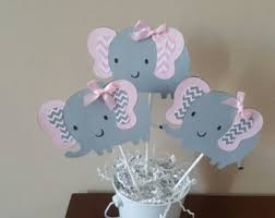 purple elephant baby shower decorations elephant cake etsy