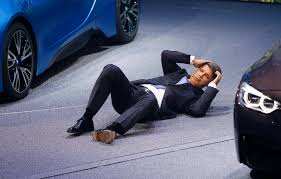 bmw ceo bmw ceo collapses during frankfurt auto presentation