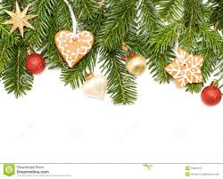 christmas green fir tree star cookies and ball stock photos