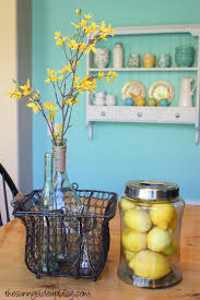 Teal Kitchen Decor by It All Started With A Shelf Home Decor Re Cap The Sunny Side