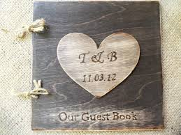 large wedding guest book rustic wedding guest book stained wood guest sign in book with