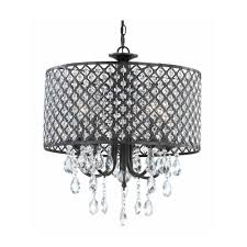 Black Ceiling Light Shade New Legend Lighting Antique Black 4 Light Chandelier