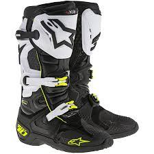 motocross boots size 13 new alpinestars mx 2018 tech 10 fluro black white motocross