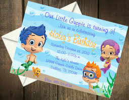 breathtaking bubble guppies birthday party invitations