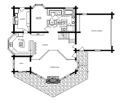 open floor plan in log cabin house view of living room and cabin