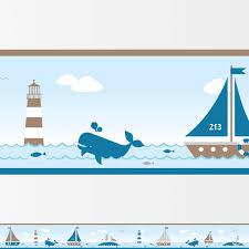 kinderzimmer maritim bordüre für kinderzimmer sailing taupe