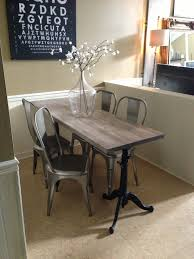 narrow dining table for narrow space industrial chic drafting