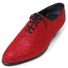 Comfortable Dress Shoes For Men Mens Glitter Red Plain Toe Lace Up High Heels Oxfords Korea