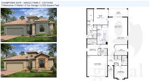 Family Floor Plans by Champions Gate Floor Plans