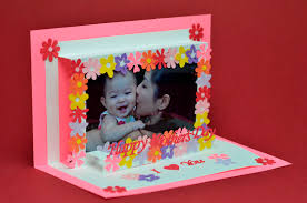 Mother S Day Greeting Card Handmade Mother U0027s Day Photo Frame Pop Up Card Tutorial Creative Pop Up Cards