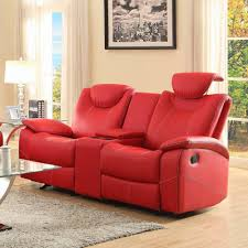 Red Leather Sofa Sets Reclining Sofa Loveseat And Chair Sets Tehranmix Decoration