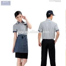 restaurant uniform designs mens and womens fashion short sleeve
