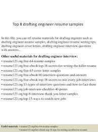 Drafting Resume Examples by Top 8 Drafting Engineer Resume Samples 1 638 Jpg Cb U003d1434269384