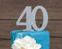 40th Bday Decorations Hello 40 Happy 40th Birthday Party Gold Glitter Topper
