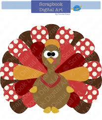 colorful turkey digital clip thanksgiving turkey turkey